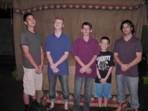 usa boys posing