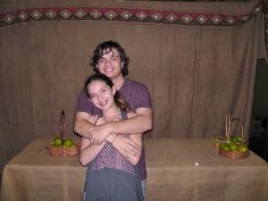 z hafa and bella hugging