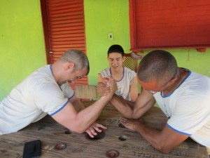 z jason and edwardo arm wrestling
